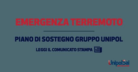 piano di sostegno terremoto centro italia